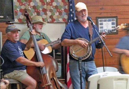 Me picking banjo in Geneva