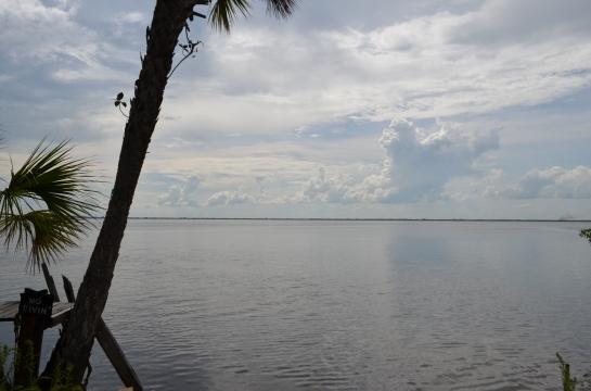 The view of Merritt Island from Cape Canaveral
