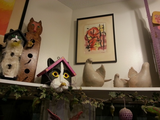 Cat corner at mom's house