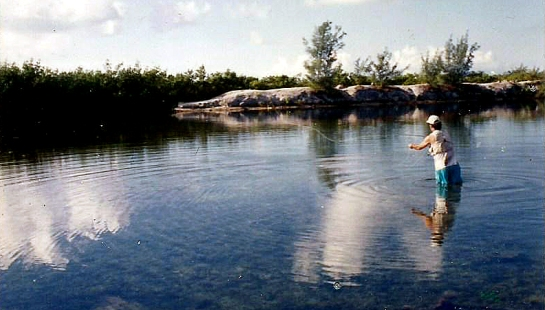 Fly fishing in Key West where I caught my first and only (baby)Permit.
