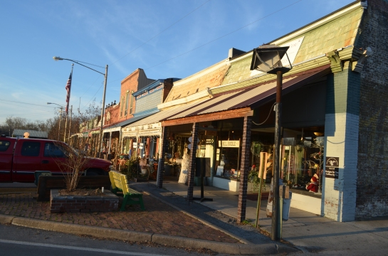 Bell Buckle, Tenn. square in the November evening sun