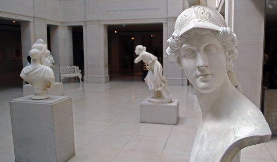 Inquisitive statue.  Chicago institute of art.