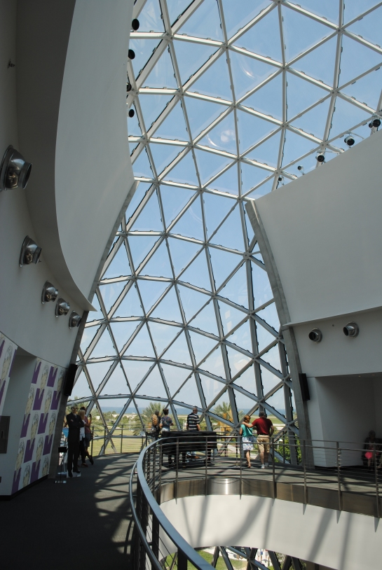 Dali Museum from the inside looking up