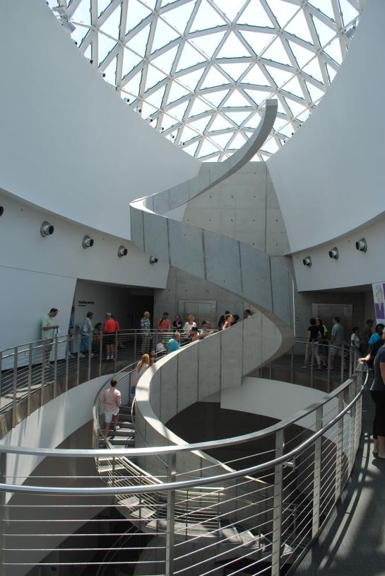 Dali Museum spiral stairway
