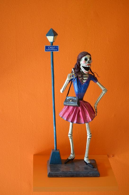 Joel Garcia papier mache figure