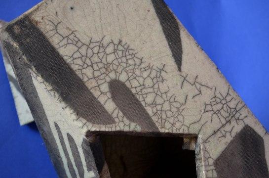 Raku crackle detail, 1979 UT ceramics