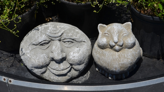 Garden sculptures, rock