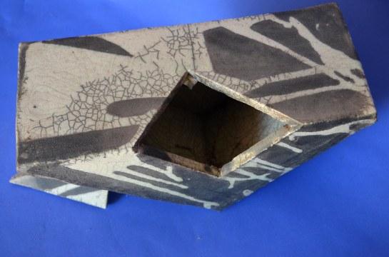 Top view of raku container, UT ceramics, 1979.