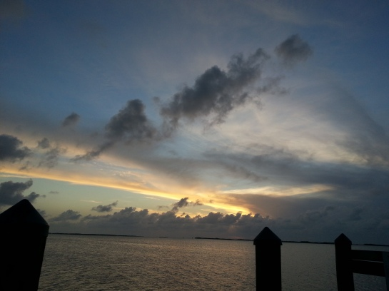 Key Largo sky at dusk